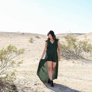 [LIKE 🆕] Target: Forest Green Romper Dress